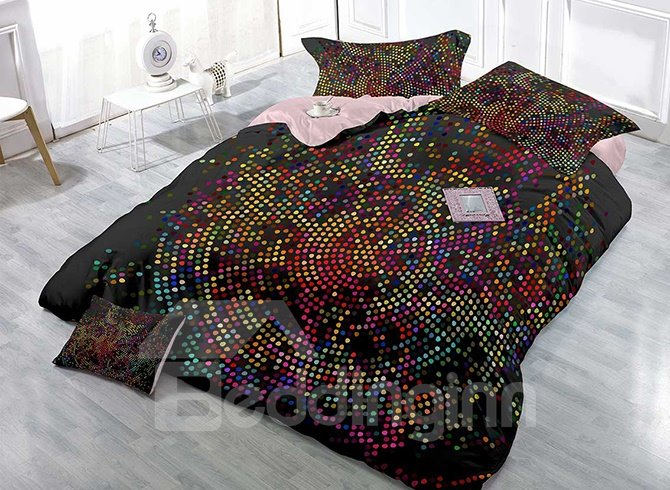 High-Definition Digital Printing Colorful Dots 4-Piece Duvet Cover Sets