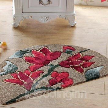 Glamorous Rose Design Water Absorption Bath Mats