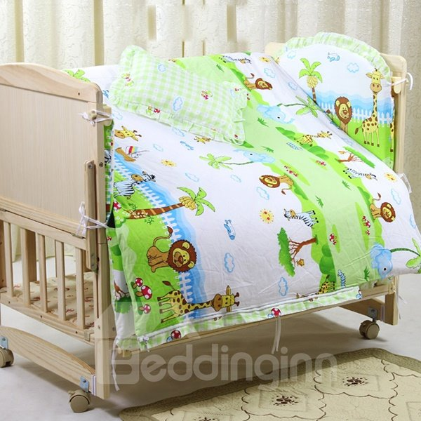 Dreamy Island Pattern Cotton 9-Piece Baby Crib Duvet Covers/Bedding sets