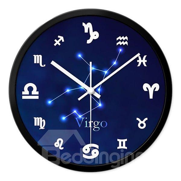 Virgo Twelve Star Sign Mute Wall Clock