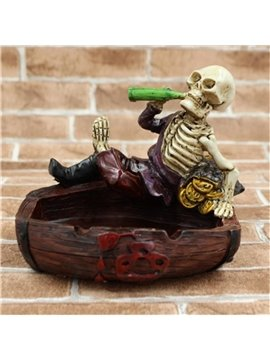 Unique Drunken Skeleton Ashtray Halloween Gift