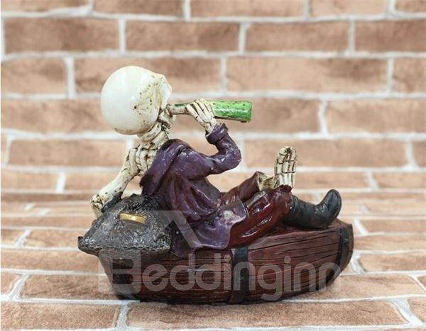 Unique Drunken Skeleton Ashtray Halloween Gift