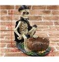 Novelty Skeleton with Black Cloak Ashtray Halloween Gift