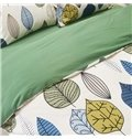 Contemporary Colorful Leaves Print European Style 4-Piece Duvet Cover Sets