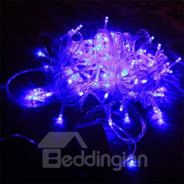 elegant purple 10m led christmas light with back splice