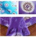 Flying Dandelion Print Full Cotton 4-Piece Duvet Cover Sets