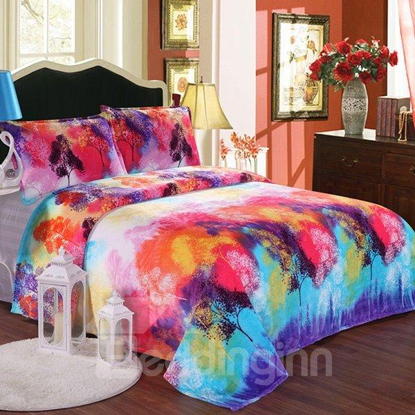 Super Comfy Smooth Colorful Design Flannel Blanket