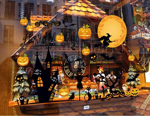 Halloween Festival Decoration Party Night Removable Wall Sticker