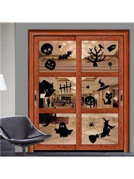 Halloween Festival Decoration Halloween Elements Glass Decoration Removable Sticker