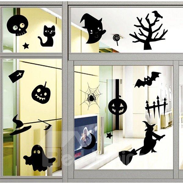 Halloween Festival Decoration Halloween Elements Glass Decoration Removable Sticker
