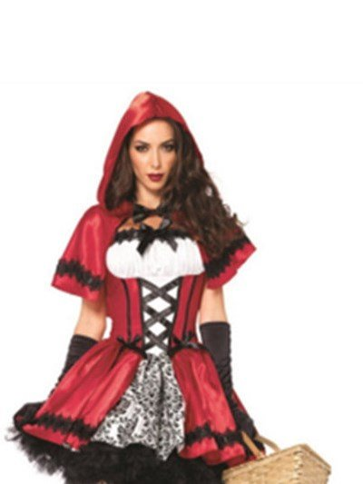 New Style Mysterious Little Red Riding Hood Costume