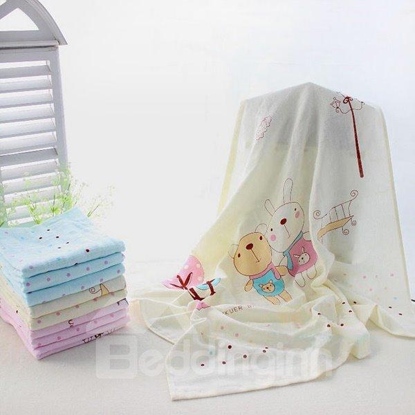Light Weight Lovely Animal Print Baby Blanket