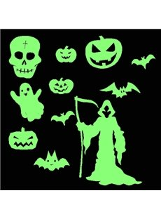 Fantastic Halloween Theme Removable Luminous Wall Sticker