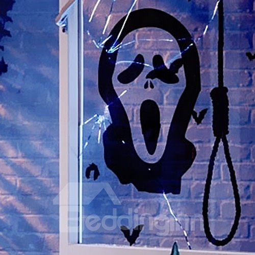Halloween Phantom In Noose Removable Wall Sticker
