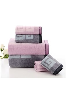 Unique Classic Style Bath and Face Towel Set with Gift Box