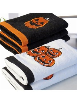 Wonderful Unique Pumpkin Design Halloween Cotton Towel