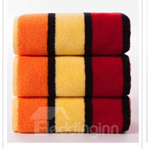 New Arrival Fashion Concise Strip Design Cotton Towel