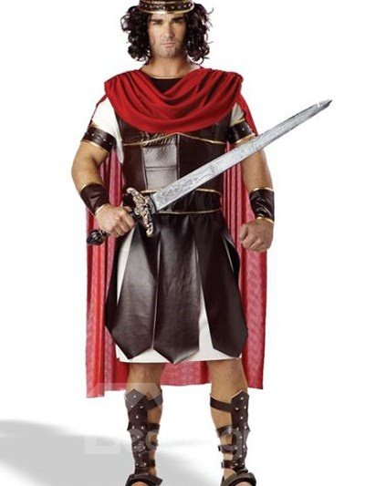 Fashion Medieval Knight With Cape Halloween Costume