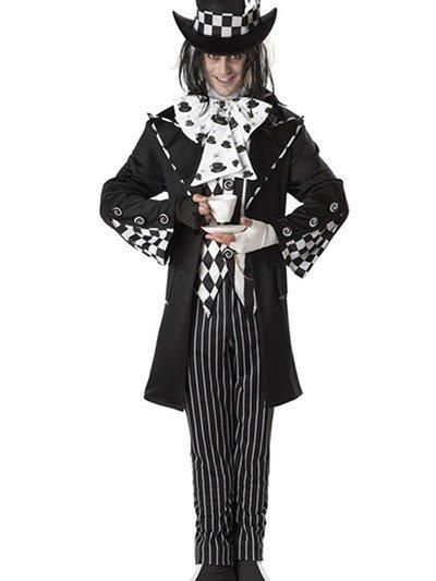 Concise Unique Lattice Design Halloween Clown Costume