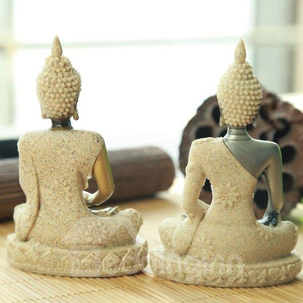 Religious Resin Buddha in Lotus Position Desktop Decoration