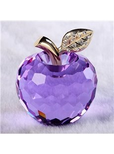 Wonderful Holiday Gift Idea Crystal Apple  Desktop Decoration