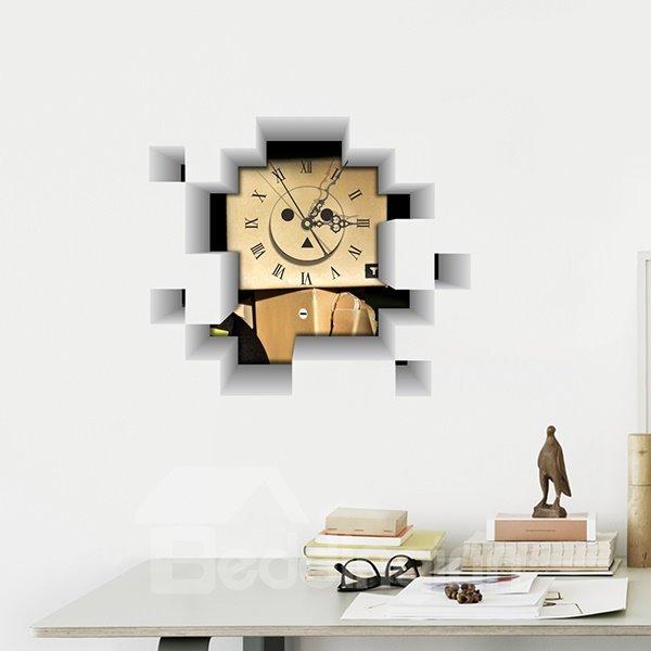 Creative Little Paper Robot Nursery Wall Clock