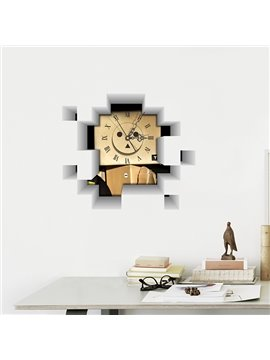 Creative Little Paper Robot Nursery Wall Clock