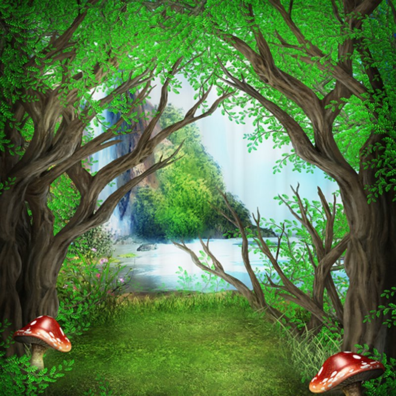 Mysterious Peaceful 3D Design Woodland Shower Curtain