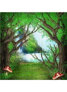 Mysterious Peaceful 3D Design Woodland Shower Curtain