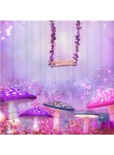 New Style Sparking Purple Fairyland 3D Shower Curtain