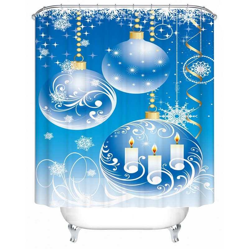 New Arrival Stunning Unique Christmas 3D Shower Curtain
