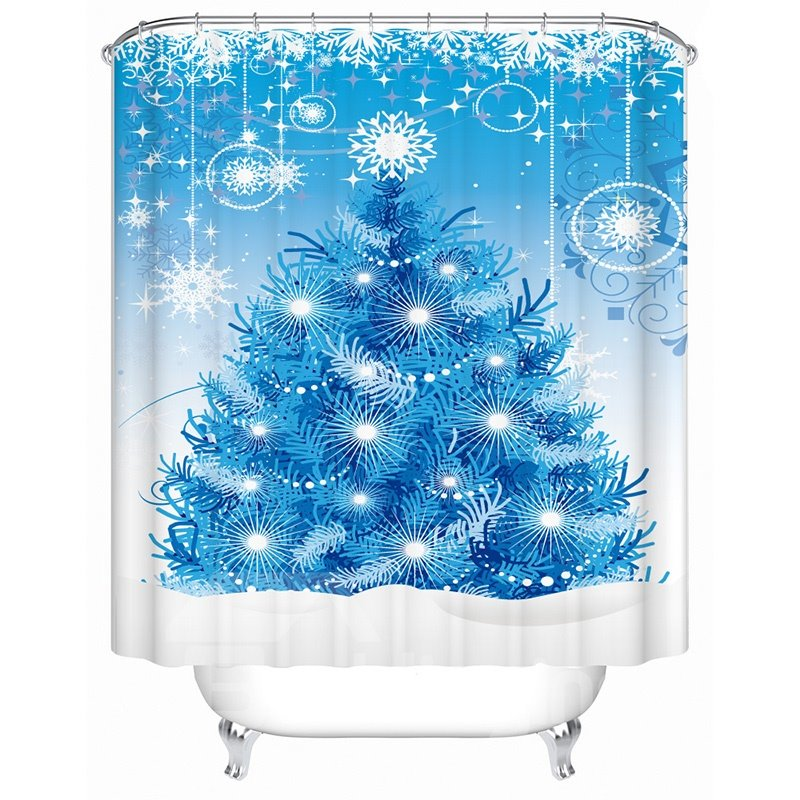 New Arrival Fantastic Christmas Design 3D Shower Curtain