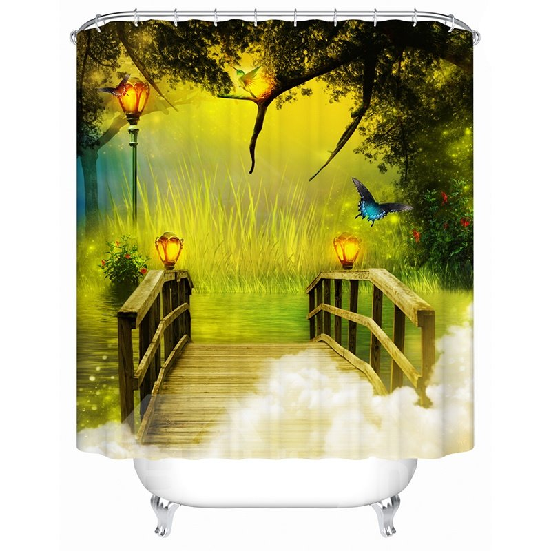 Charming Unique Fairyland Printing 3D Shower Curtain