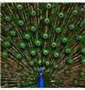 High Class Vivid Peacock Design 3D Shower Curtain