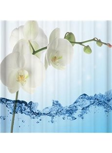 Concise Unique Flower Printing 3D Shower Curtain
