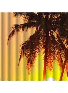 Vivid 3D Setting Sun Image Shower Curtain