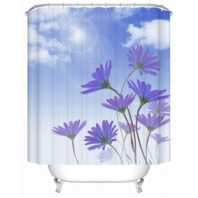 High Class Clear Sky Image 3D Shower Curtain