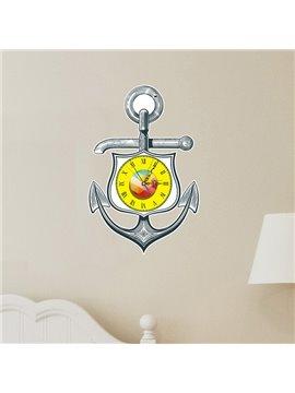 Classic Anchor Design Nursery 3D Sticker Wall Clock