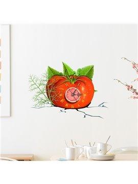 Fresh Tomato Design 3D Sticker Wall Clock