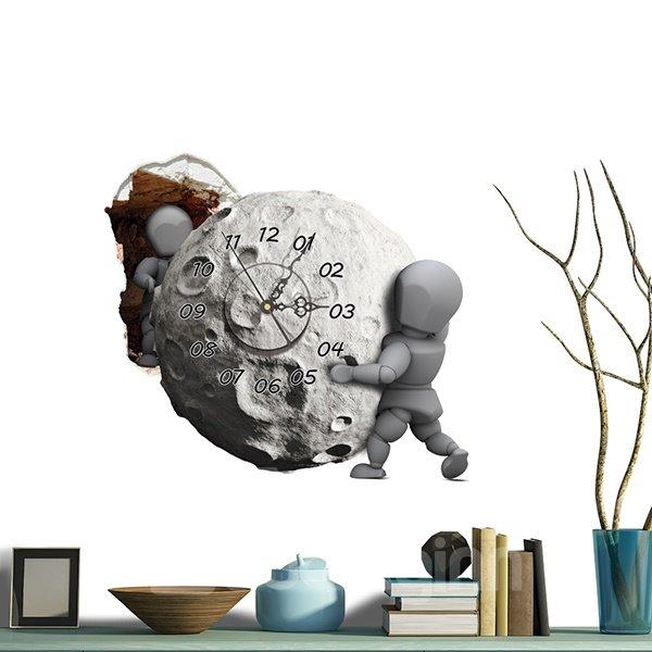 Wonderful Meteorite Moving 3D Sticker Wall Clock