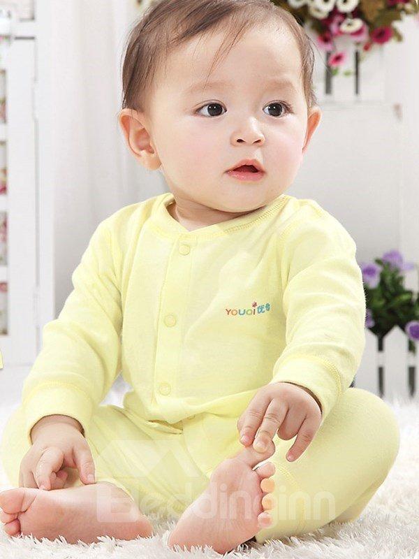 100% Cotton Solid Color 2-Piece Baby Pajamas