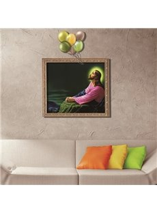 Holy Jesus with Balloons Framed Removable 3D Wall Sticker