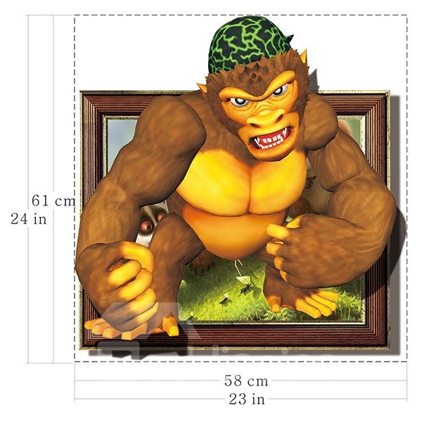 Giant Angry Chimpanzee Removable 3D Wall Sticker