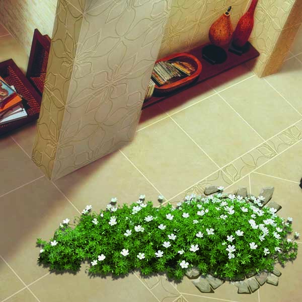 Creative Floor Decoration Flowers Grown out of a Well Removable 3D Wall Sticker