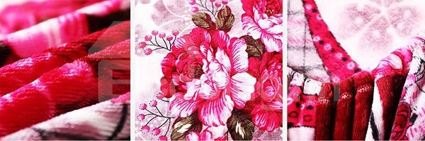 Hot-selling Romantic Flowers Design Comfy Flannel Fitted Sheet
