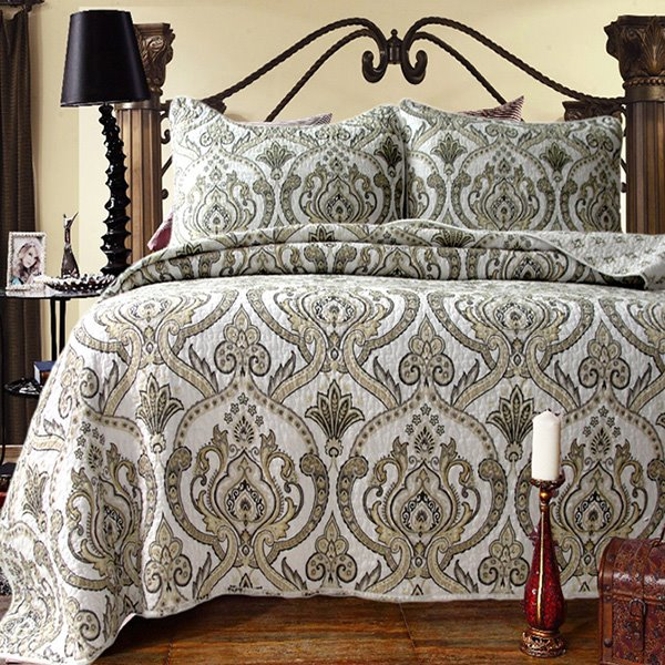 Classical European Jacquard Design 3-Piece Cotton Bed in a Bag