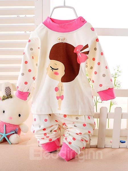 Lovely Girl in Swinsuit Print Kids Pajamas