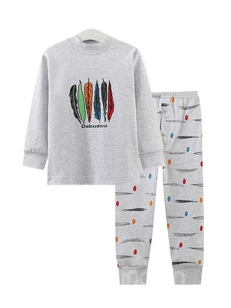 Unique Ethnic Colorful Feather Pattern Kids Pajamas - beddinginn.com