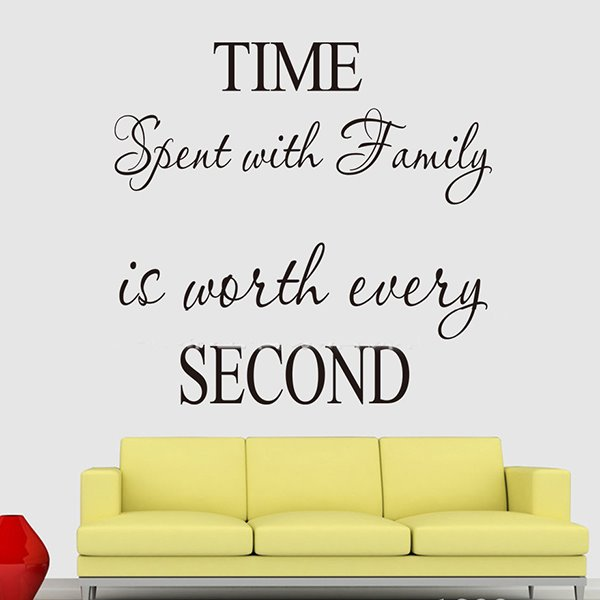 Loving Letters and Words Time with Family Removable Wall Sticker