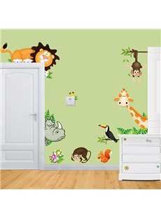 Cartoon Zoo Animal Nursery Removable Wall Sticker